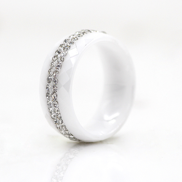 Ceramic Ring with Crystals