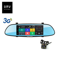 7 inch 1080P Car Rear View mirror Camera Monitor dash cam Recorder android touch bluetooth GPS FM transmitter Parking assistant