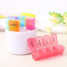 7 Day Style Pill Medicine Kit Tablet Pillbox Dispenser Organizer Case Box Multicolor Container Daily Pills Holder