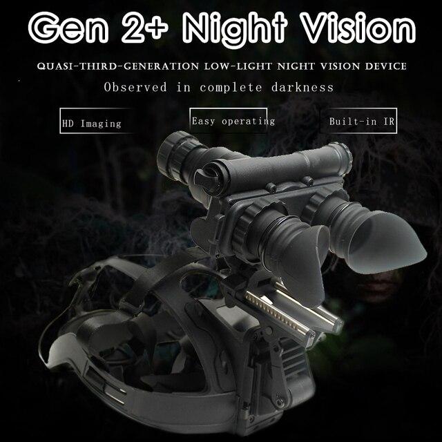 Militaire 2 Generatie HD Beeldvorming Nachtkijker Jacht Optics Helm Type IR Nacht Verrekijker Optionele Lens Aangepaste