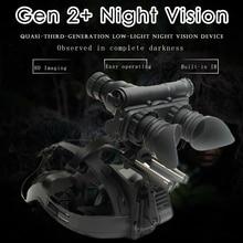 Militar 2 geração de imagem hd visão noturna óculos de caça óptica capacete tipo noite ir binóculos lente opcional personalizado