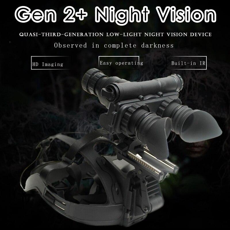 Military 2 Generation HD Imaging Night Vision Goggles Hunting Optics Helmet Type IR Night Binoculars Optional Lens Customized Night Visions     - title=