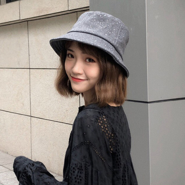 HT1910 nuevos casquillos del invierno del otoño para las mujeres Flat Top  fieltro de las lanas 3200ee1fd52
