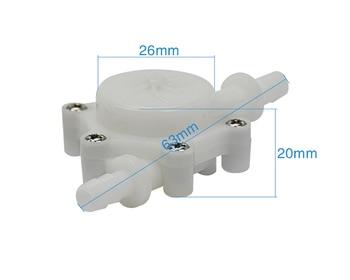 24V USN-HS06PA-1 6mm Hose Barb End Hall Water flow Sensor Turbine Flow Meter 0.15-1.5L/min 1% Error for Drinking Machine Water