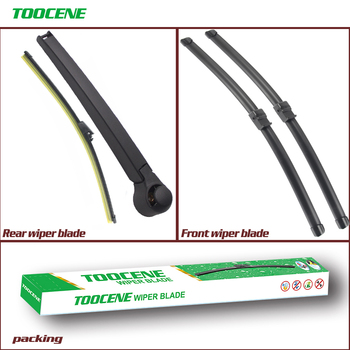 Front and Rear Wiper Blade Arm For Skoda Octavia MK 2 ,2004-2013  Rubber Windshield Auto Car Accessories