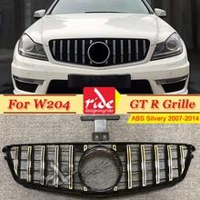 цены на W204 Front Grille Grill ABS Silver C-Class C63 C180 C200 C250 C280 C300 C350 GTS Style Without Emblem Front Mesh Grille 2007-14  в интернет-магазинах