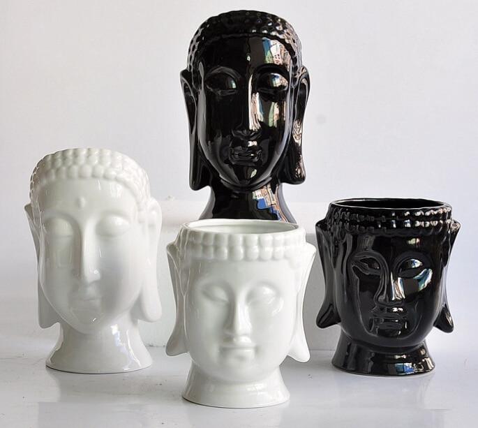 Porcelain flower pots planters flower vases home decor for Modern home decor vases