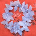 "Beautiful! AAA High quality 10*20mm leaves shape blue Aquamarine 7.5"" bracelet -bra212 Wholesale/retail Free shipping"