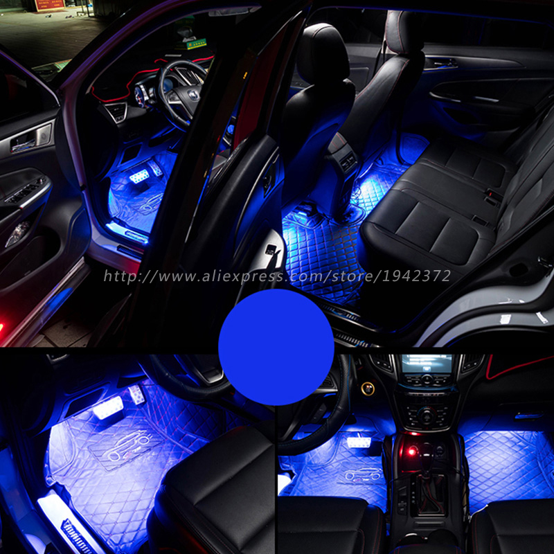 Image 3 - RGB 5050 SMD Flexible LED Strip Interior Decoration Light with Remote Control DC12V-in Decorative Lamp from Automobiles & Motorcycles