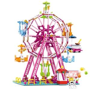 Image 3 - New City Girl Friends Big Garden Villa Model Building Blocks Brick Technic Playmobil Toys For Children Gifts