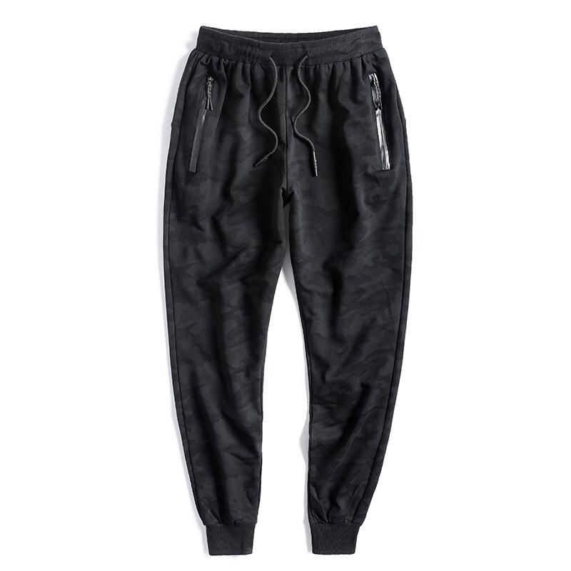Grande taille 10XL hommes coton pantalons de survêtement lâche Style noir taille élastique Harem pantalon Camouflage printemps automne homme vêtements 87661