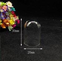 20 pz 30*20mm tubo campana vasi di vetro di forma globo di vetro fiala collana pendente bottiglia di desiderio di vetro charms gioielli fai da te terrario regali