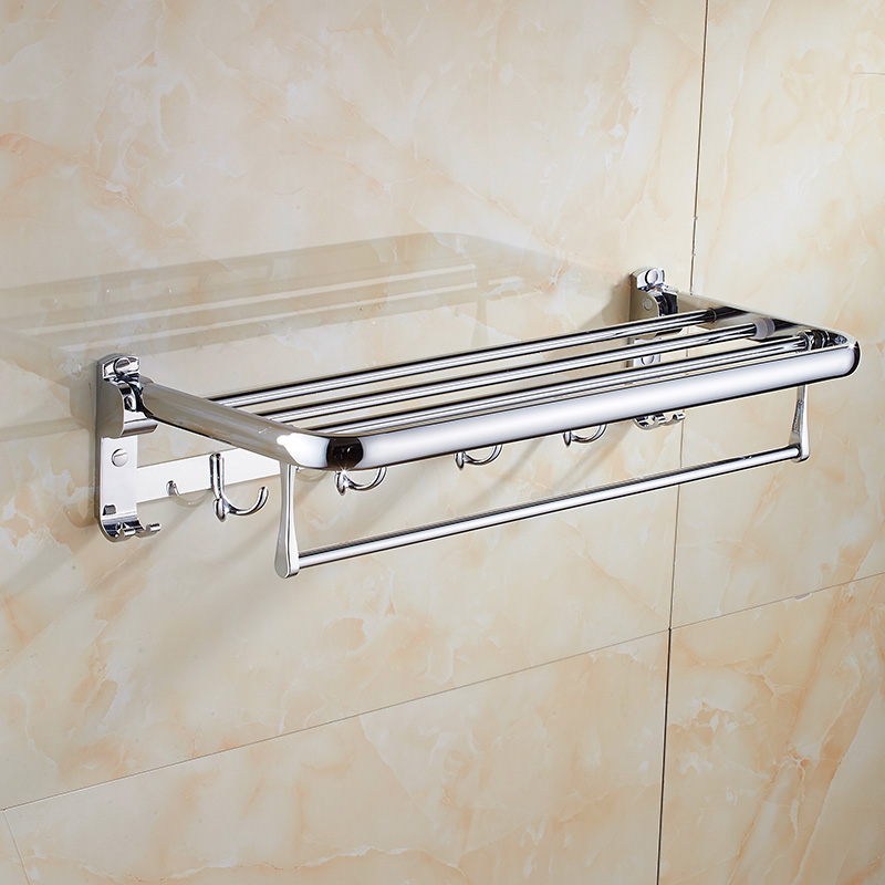 free shipping stainless steel towel rack towe shelf Towel bar folding rack bathroom shelf bathroom hanger bathroom accesories sucker bathroom towel rack stainless steel bar folding frame multi pole hanging