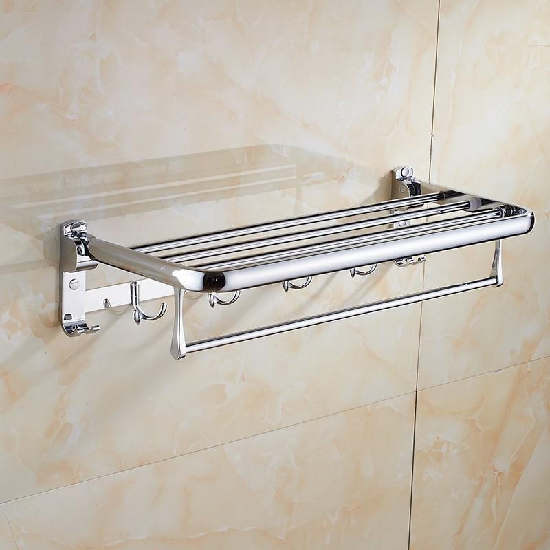free shipping stainless steel towel rack towe shelf Towel bar folding rack bathroom shelf bathroom hanger bathroom accesories