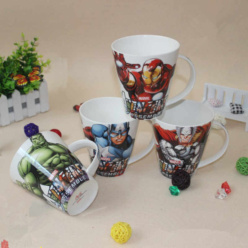 Marvel Mugs The Avengers Cups And Mug Thor Captain America Iron Man Hulk Coffee Cup Super Hero Ceramics Milk Cup