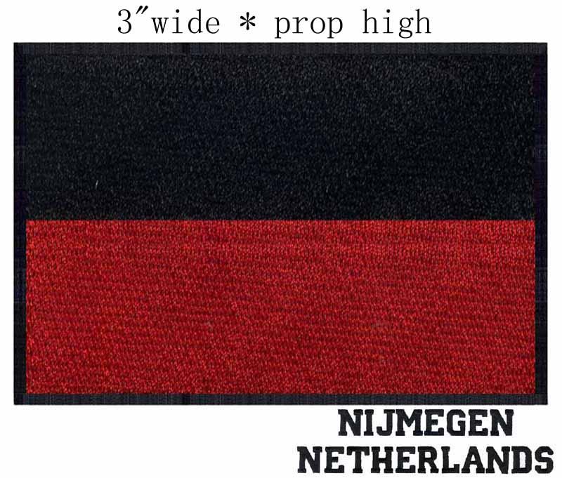 "Nijmegen, Netherlands Flag 3""wide embroidery patch for"