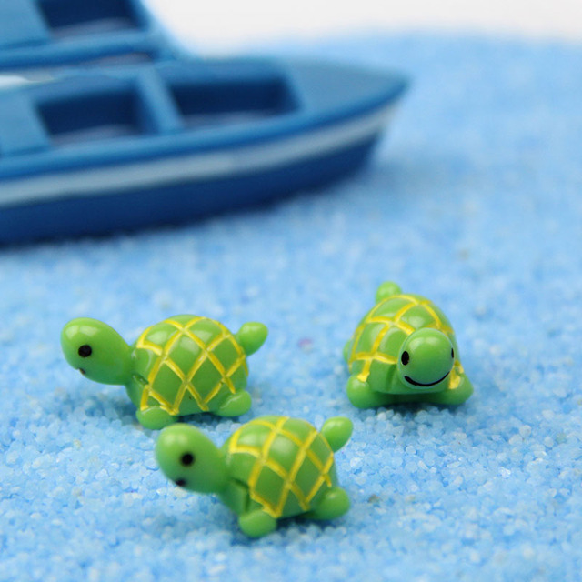 Little turtle simulation moss micro landscape jewelry DIY assembly decoration glass bottle landscape doll