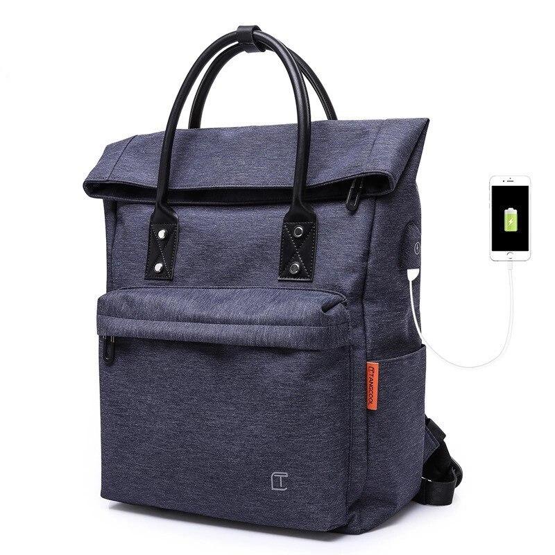 USB student backpack School bagpack multi-function drawstring backpack spring shoulder bag multi compartment computer kenken bag
