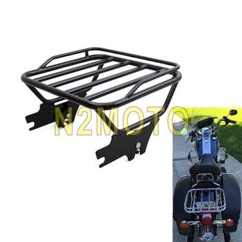 For Harley Touring Road King Motorcycle Black 53743-97 Detachable Two-Up Passenger Luggage Rack FLHT FLHX FLTR 1997-2008