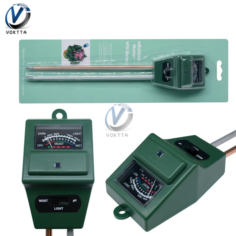 3 In 1 Soil Water Moisture PH Tester Soil Detector Water Moisture Light Test Meter Sensor For Garden Plant Flower Hydroponic