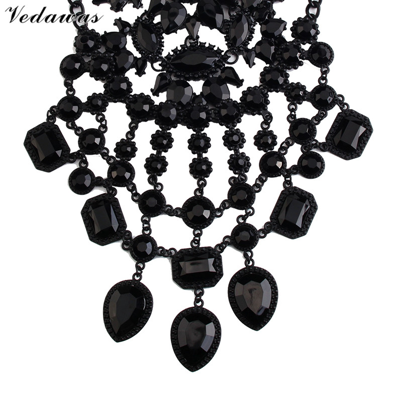Vedawas módní šperky ženy černé DIY drahokamu korálky límec - Bižuterie - Fotografie 3