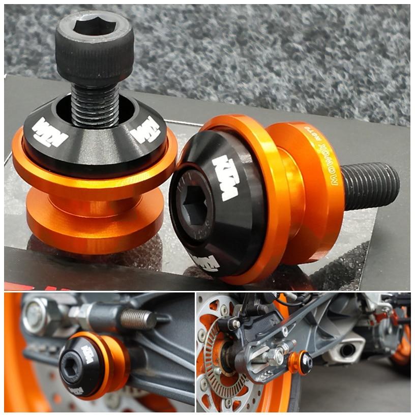 KTM RC125 /& RC200 2014-2016 R/&G racing orange fork crash protectors bobbins