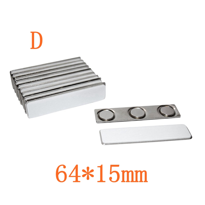 Strong Magnetic Badge Name Tag Holder Badge Pins Attachment 2//3 Magnets 45X13mm