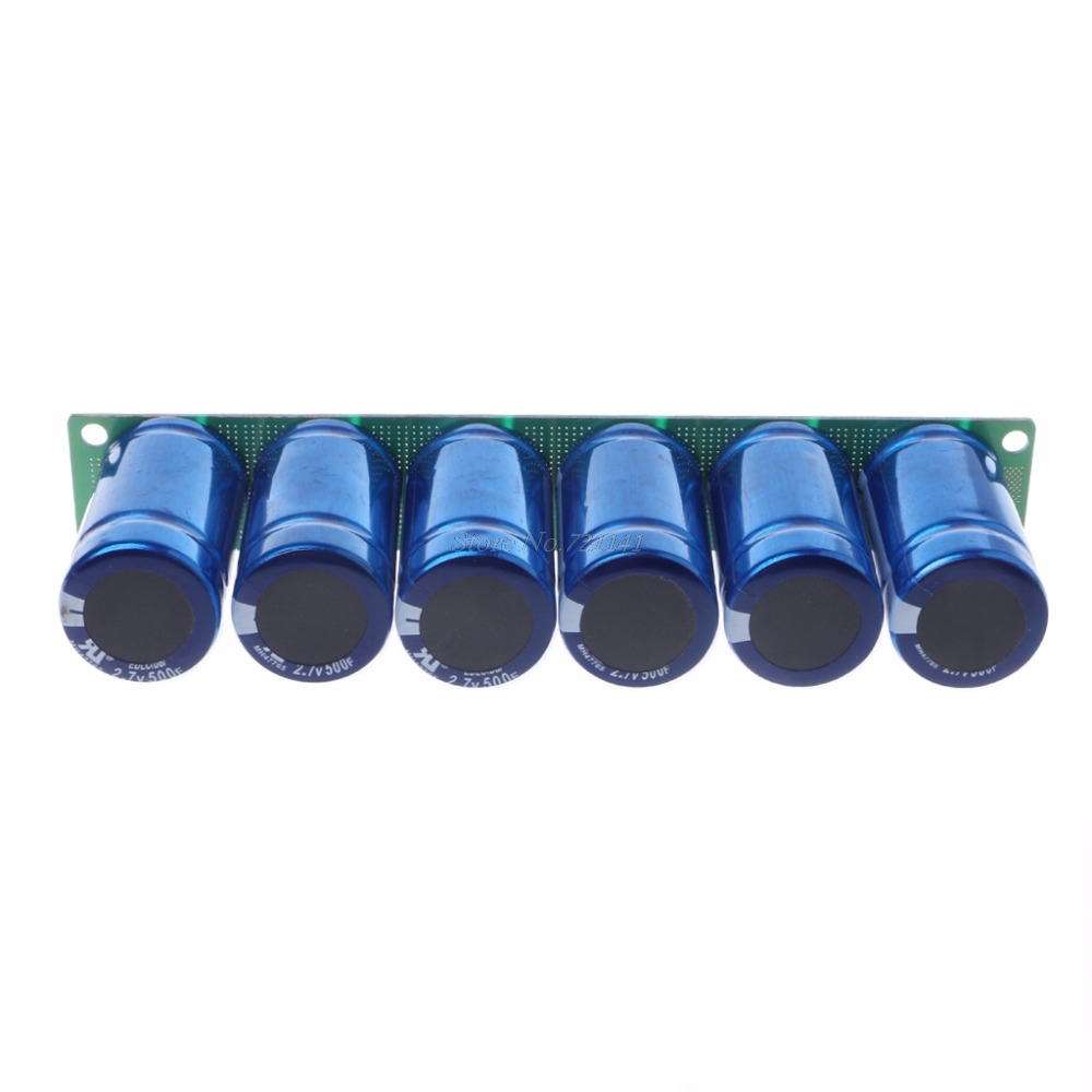 Image 4 - Farad Capacitor 2.7V 500F 6 Pcs/1 Set Super Capacitance With Protection Board Automotive Capacitors-in Acoustic Components from Electronic Components & Supplies