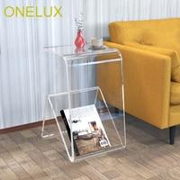 Clear Acrylic Occasional Side Tea Table 31w 40d 52h cm