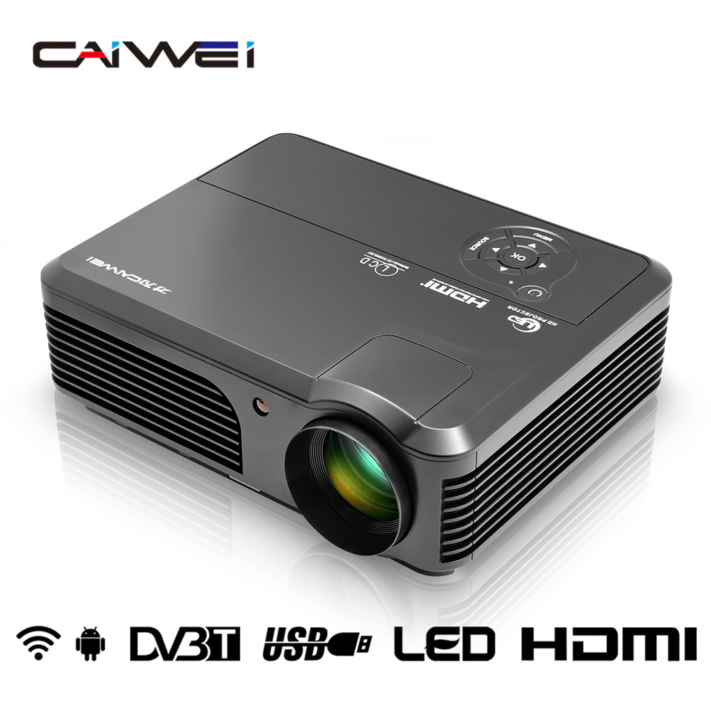 Caiwei Home Use Dvb T2 Projector Led Lcd Digital Tv: CAIWEI A6AD Video LED Projector Wifi Home Theater LCD