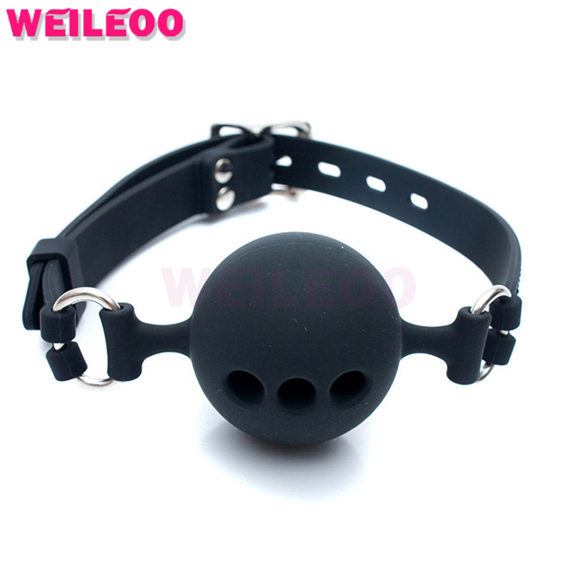 perforated silicone open mouth gag ball adult font b sex b font font b toys b