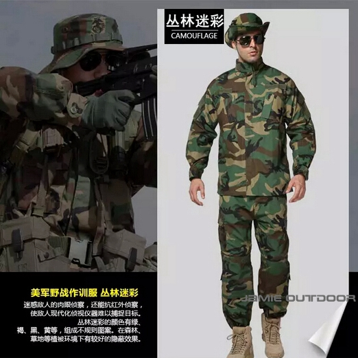 Outdoor Hunting Army Military ACU Type Uniform Combat Uniform Suit Jacket Pants Sets Combat Airsoft Multi