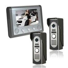"""7 """"TFT Color Video de la puerta Sistema de Intercomunicación Del Timbre del teléfono Kit IR monitor de la Cámara del teléfono Manos Libres de intercomunicación"""