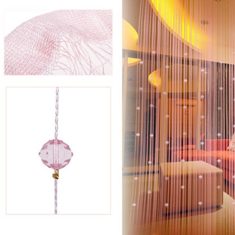 New Romatic String Curtain With Beads Decor Tassels Fly Insect Divider Window Panel Room In Curtains From Home Garden On Aliexpress