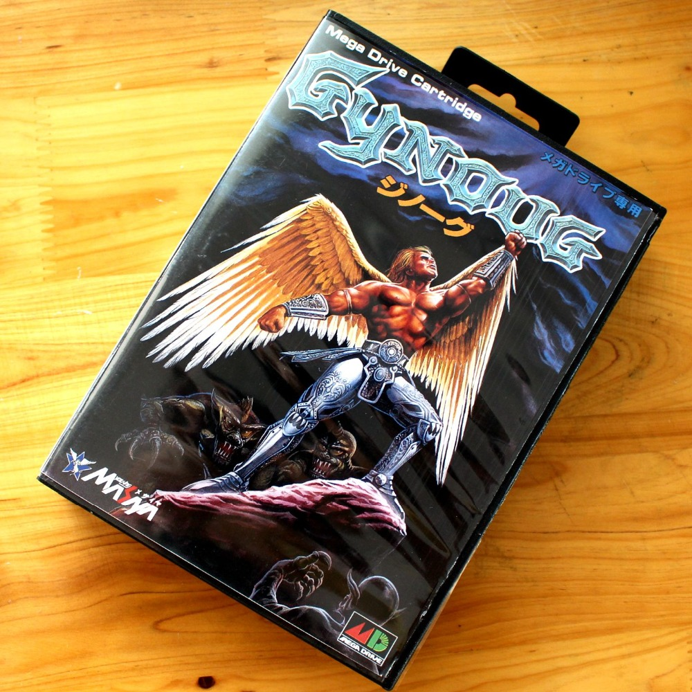 Gynoug 16 Bit MD Game Card with Retail Box for Sega MegaDrive & Genesis Video Game console system