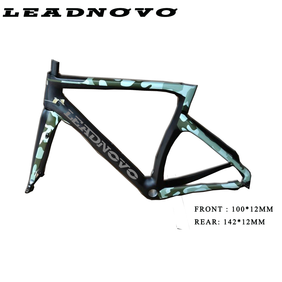 2019 Oem Carbon Road Frame Thru Axle Aero Race Bike Bicycle 700C Carbon Fibre Frame Chinese Taiwan DI2