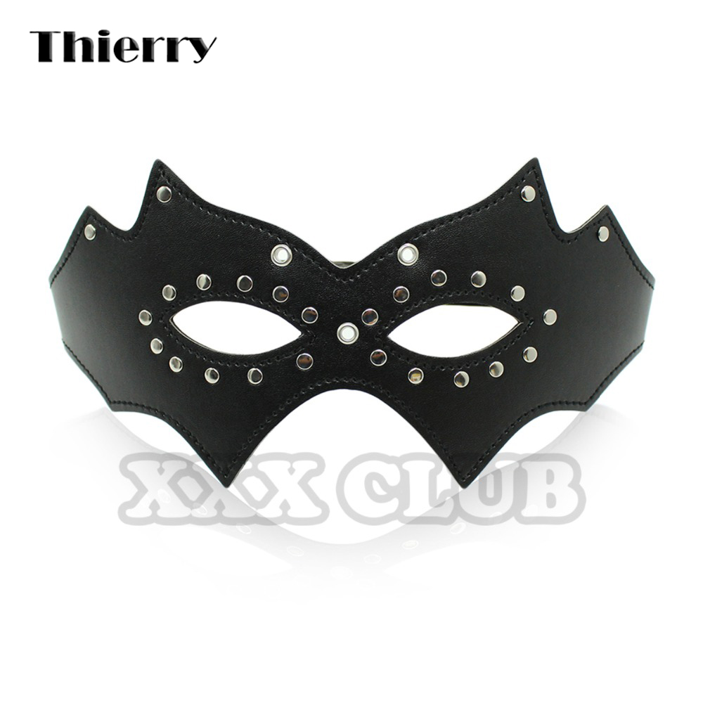 Thierry Fetish Bondage Mask Studded Leather Sex Mask