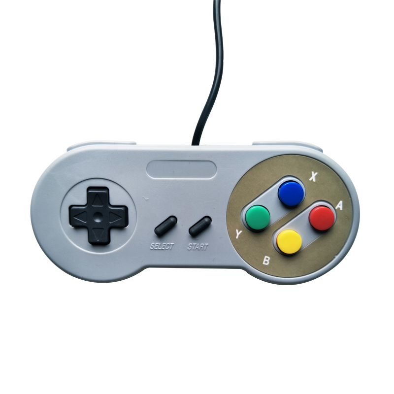 Image 2 - Computer host controller for SNES system console controller wired game console handle purple color two color buttons-in Gamepads from Consumer Electronics