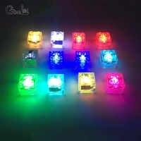 10 pçs/lote criativo bebê engraçado diy blocos de construção com luzes led colorido light-emitting crianças brinquedos para festa de aniversário presente jogo