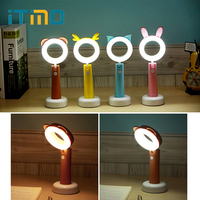 ITimo Cute Night Light Indoor Lighting USB Rechargeable Adjustable Book Light Table Desk Light Reading Lamp