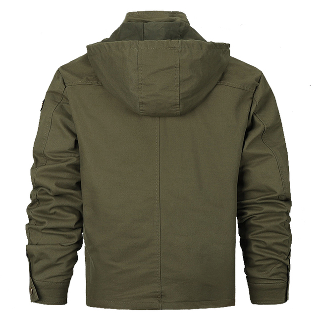 MAGCOMSEN Jackets Men Autumn Hooded Military Army Tactical Jackets Safari Windproof Cargo Coat Outwear for Men Clothing SSFC-35 3