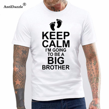 a94f2af4 Antidazzle Baby Pregnancy KEEP CALM I'm Going be BIG BROTHER Boys Cotton  Short Sleeve
