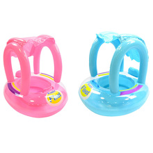 Baby Float water Inflatable seat with sunshade Children's Pool Float swimming ring Inflatable Float water mat Baby floating row 0 3 years old baby inflatable shark pool float with sunshade flamingo ride on swimming ring safe seat water toys infant circle