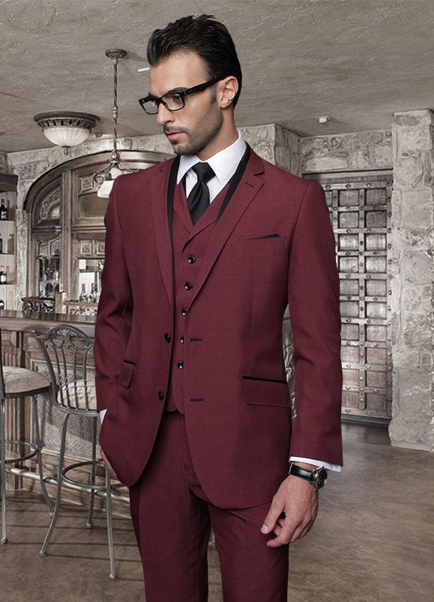 Popular Mens Burgundy Suit-Buy Cheap Mens Burgundy Suit lots from ...