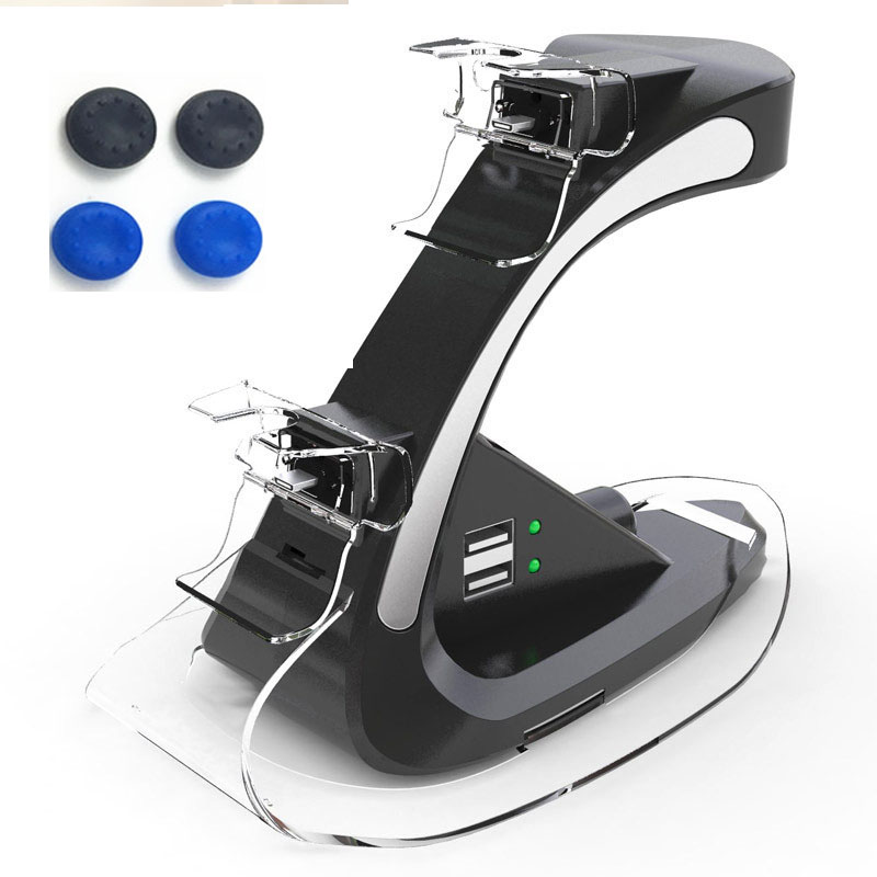 Dual Controllers Charger Charging Dock Stand Support Holder GT Station For Sony PlayStation 4 PS4 Gamepad PS4 Pro PS4 Slim+Gifts