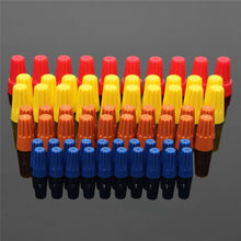 70PCS Electrical Wire Twist Nut Connector Terminals Cap Spring Insert Assortment 4 Colors Red Yellow Blue Orange Terminals(China)