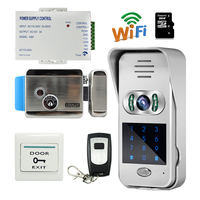 Free Shipping Code Keypad Wireless Wifi IP Doorbell Video Door Phone Intercom For Android Phone Remote