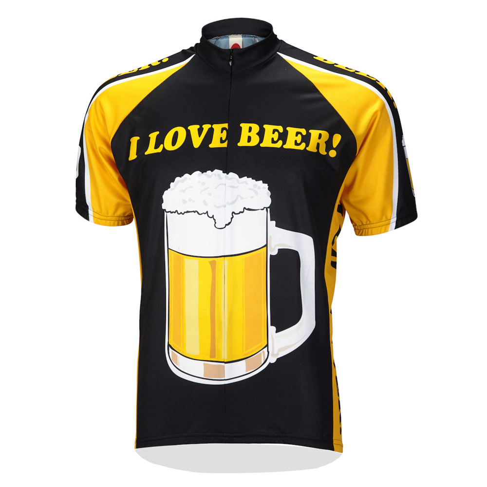 Beer Cycling Jersey breathable Short Sleeve Bicycle Clothes Men Bike Shirt Maillot Ciclismo Top quality quick dry Mesh fabric|cycling jersey breathable|mens bike shirtbike shirt - title=