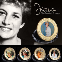 ФОТО wr the last rose of england princess diana 24k gold coin collectible metal coins art ornament for human collection