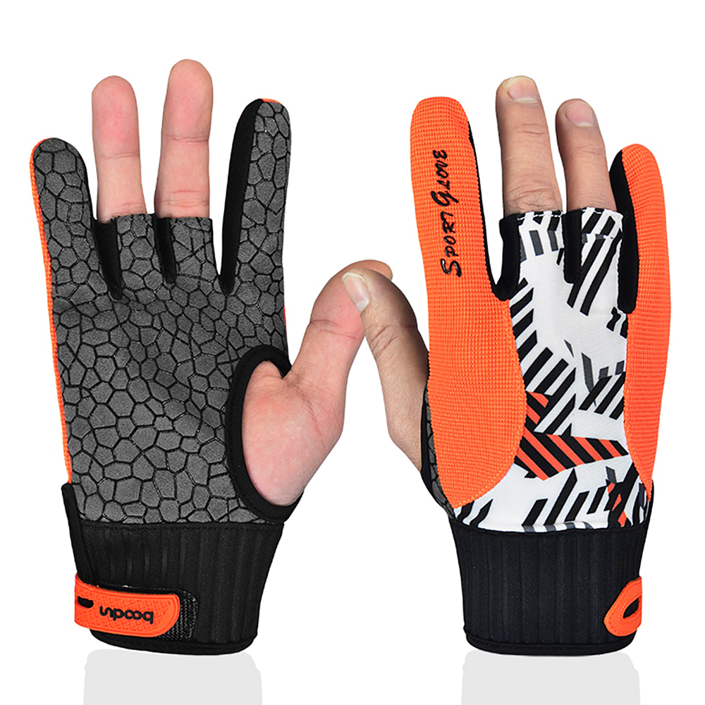 Bowling Gloves Breathable Anti-Skid Bowling Thumb Protectors Sports Gloves For Men Women Baseball Accessories